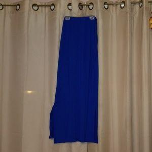 Royal blue, maxi skirt,  large